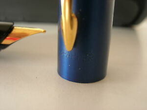 Parker Inflection Blue & Gold Fountain F