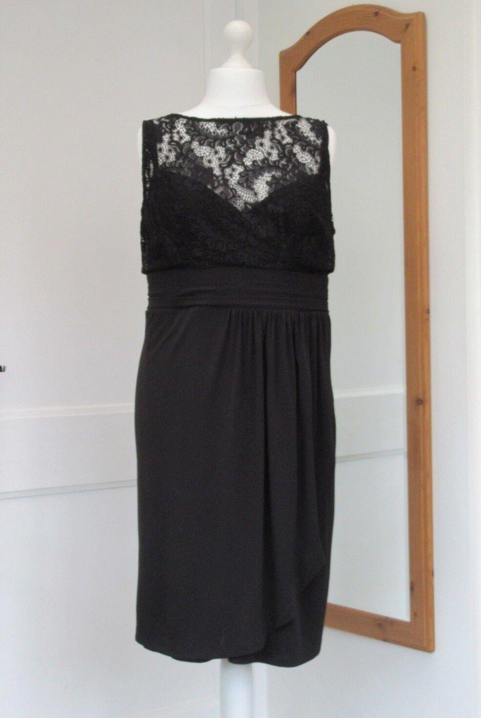 Alexon noir dentelle de croisière robe taille 22 neuf avec étiquettes