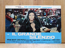 IL GRANDE SILENZIO fotobusta poster Corbucci Kinski Merlini Trintignant Western