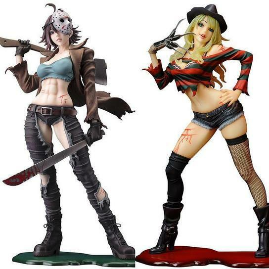 Sexy Female FROTdy Vs Jason action figure model toy 23 cm / 9 in. version