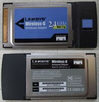 LINKSYS Wireless-G Notebook Adapter WPC54G PCMCIA Card Cisco Systems 2.4GHz