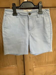 Ben-Sherman-Boys-Shorts-Cotton-Blue-Age-10-11-adjustable-waist