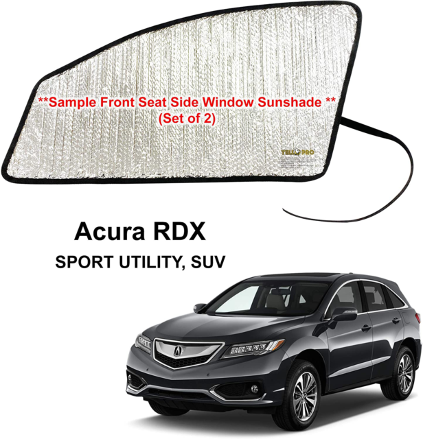 Side Window Front Seat Reflective Sunshade For 2013-2018