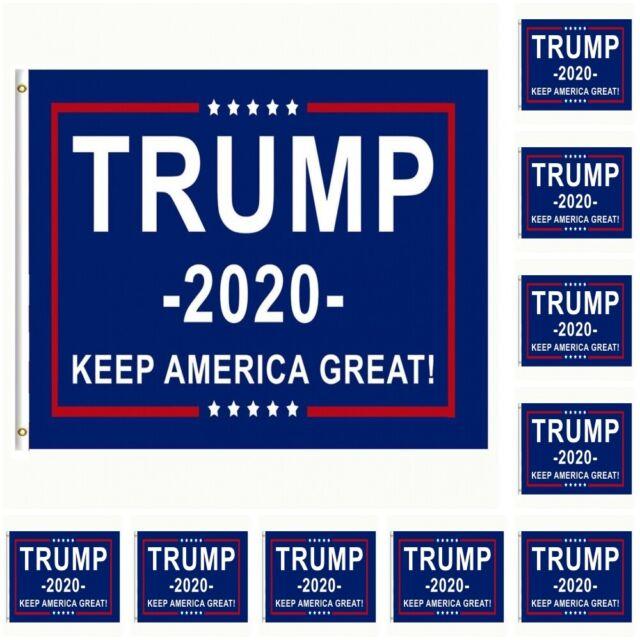 10-Pack Trump 2020 Flag Keep America Great President Donald Trump 3x5 Flag USA