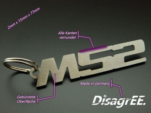"""Schlüsselanhänger /""""M52/"""" für BMW E36 325 328 528 728 B28 Edelstahl gebürstet"""