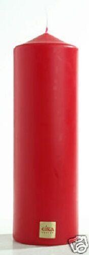 STUMPENKERZE 210 x 70 mm Stumpe Stumpen Kerze von EIKA in hellrot ROT 05