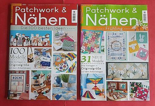 Patchwork und Nähen 01//2020 02//2020 Die 100 Besten Ideen//Frühling ungelesen