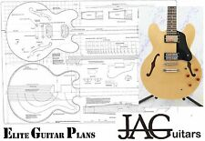 Luthiers Project Plan/Drawing for Gibson ES 335 guitar  Ideal Gift P036