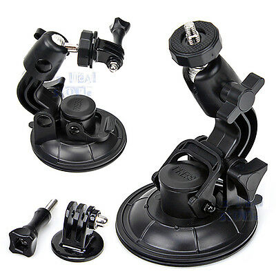 Suction Cup Set Big Size Tripod Mount For GoPro Hero 4 3+ 3 2 Steel Nut Cameras