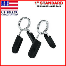 """2Pc Olympic Dumbbell Barbell Bar Lock 1/"""" Weight Clamps Collars Gym Training 25mm"""