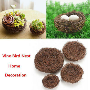 Handmade-Vine-Brown-Bird-Nest-House-Home-Nature-Craft-Holiday-Decoration-BP