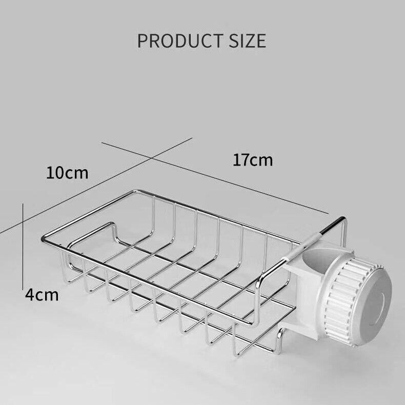Drain Rack Storage Holder Shelf-Kitchen Sink Faucet Sponge Soap Cloth