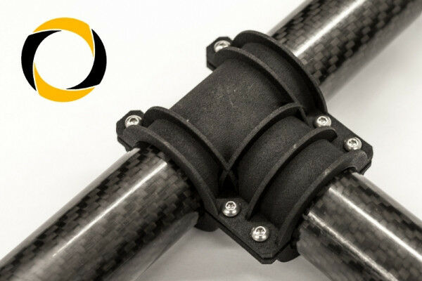 CARBON-TUBO T-Connettore CFK-tubo multi-Copter CNC fresatura fresatura fresatura gimbal ba7128