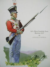 MILITARY POSTCARD- 54TH WEST NORFOLK FOOT BURMA 1825