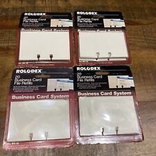 Rolodex Brand Bc 10 4 Packs Of 20 Business Card File Refills New Old Stock Bc10