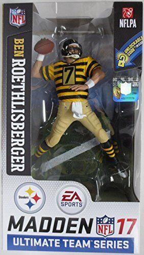 McFarlane Toys NFL 17 Madden Ultimate Team Ben Roethlisberger Bumble Bee Uniform