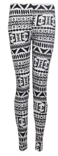 Mujer Multi Azteca Estampado Completo Mallas Elástico Pantalones Informales 8-26