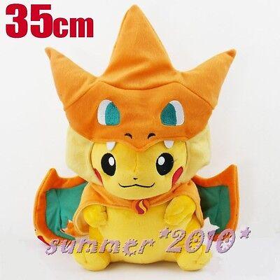 """14"""" Pokemon Center Mega Tokyo Pikazard Pikachu Charizard Plush toys Doll Y Gift"""
