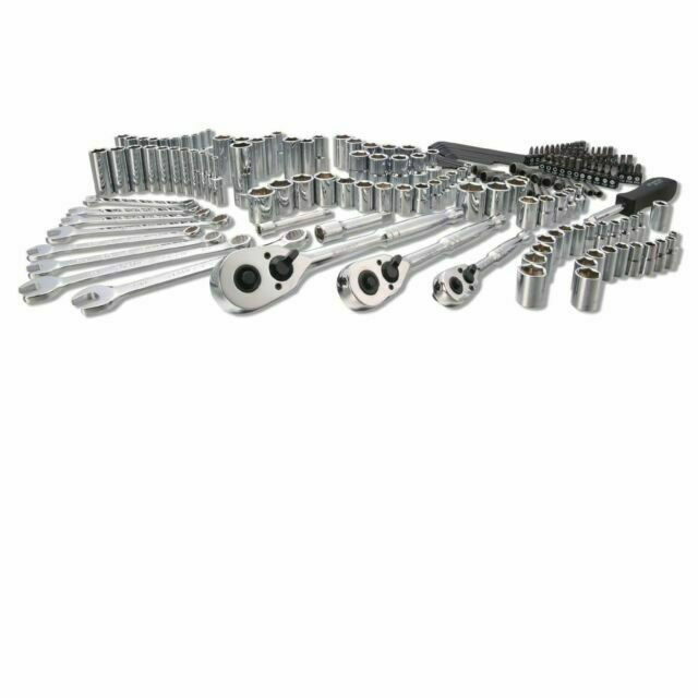 Stanley 201 pcs SAE Metric Mechanics Chrome Garage Standard Hard Case Tool Set