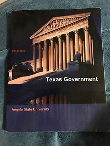 POLS 2306 Texas Government Angelo State University