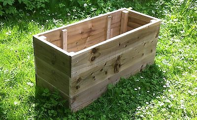 Large, Wooden Garden, Vegetable Raised Beds, Herb Planter, Borders. 45cm High