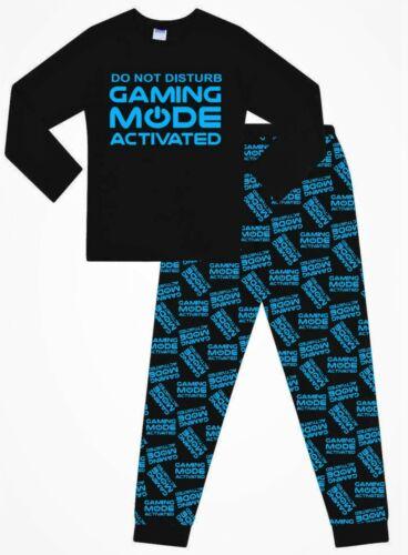 Jeux Mode activé Long Bleu Garçons Pyjama 9 To 16 ans