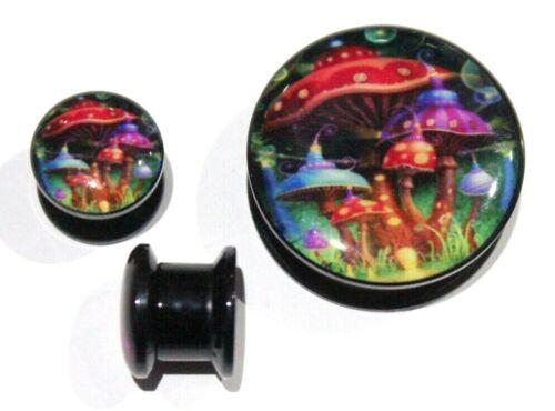 6-25mm Magic Mushroom House Fairy Sci-Fi Logo Screw Fit Tunnel Ear Plug Earring