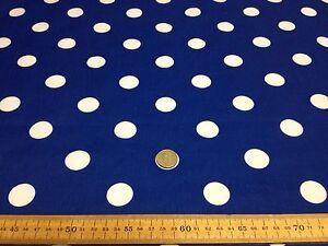 Telas-de-policotton-Tela-Manchado-Lunares-Azul-Blanco-spots-25-mm-manchas