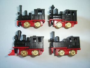 Noir-moteurs-a-vapeur-Trains-Miniatures-Set-1993-1-160-N-Kinder-Surprise-locomotives