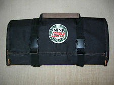 "MINI COOPER LOGO/Austin/Morris/Rover ""NEW ALL BLACK"" !!! Classic Tool Roll"