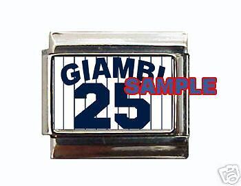 Jason Giambi uniform #1 Custom Italian Charm Yankees