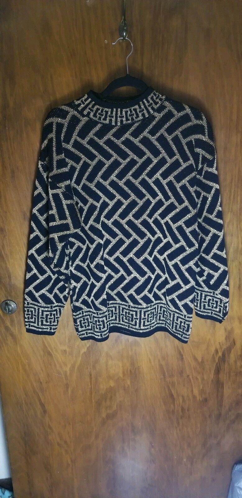 Vintage Karen Scott Hip Hop Holiday Sweater Size M