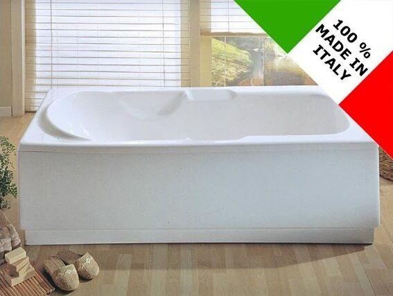 Vasca da bagno design nuova rettangolare reversibile 170x70 70x170 cm