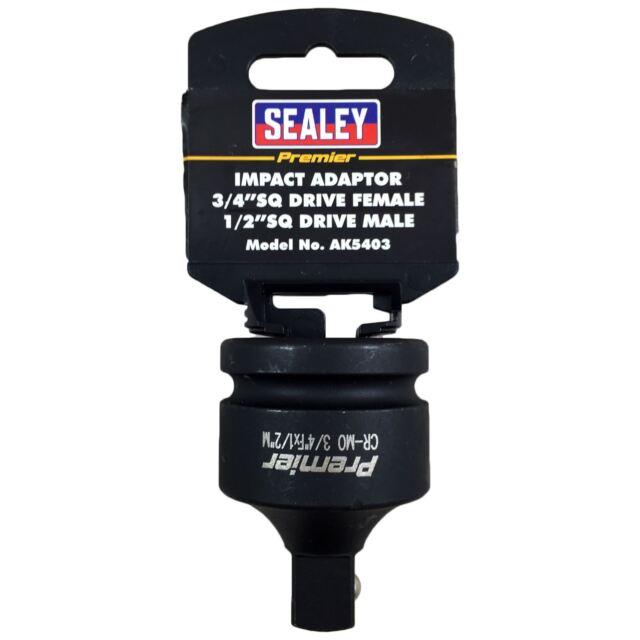 Sealey Impacto Enchufe Adaptador Reductor 1.9cm Conducir Hembra a 1.3cm Hombre