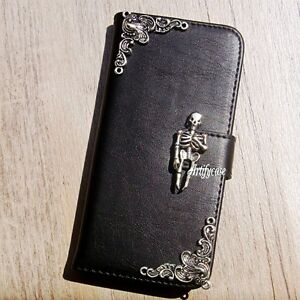 image is loading skull phone wallet leather flip case halloween cover