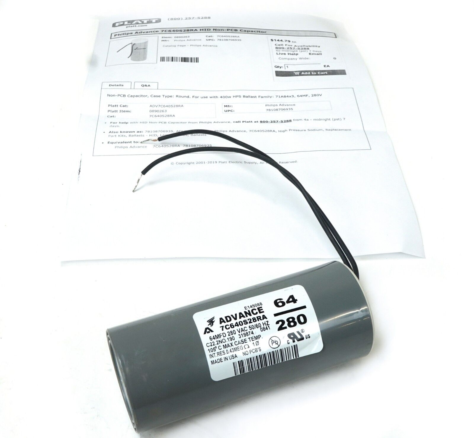 Phillips Advance Capacitor