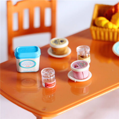 7Pcs Dollhouse Miniature Yogurt ice cream Toys Doll Food Kitchen Accessori BRPJ