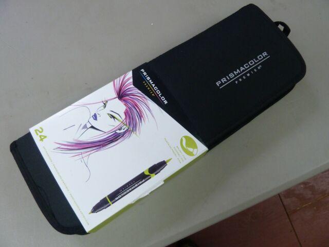 Prismacolor Premier Double Ended Art Markers 24 Pcs Fine Brush Tip Marker Set