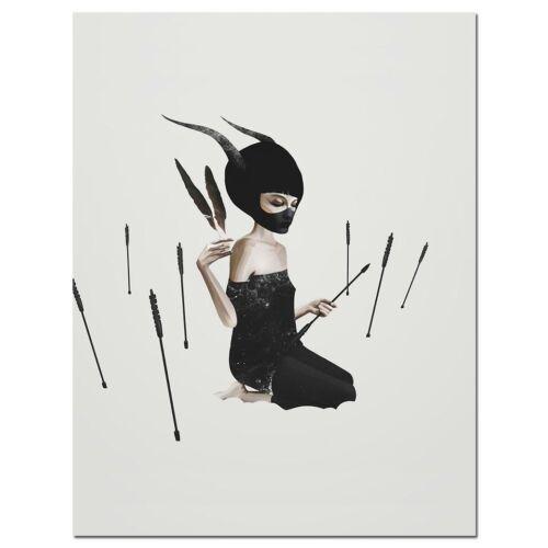 Realism Girl Canvas Poster Batman Mask Art Prints Wall Painting Home Decor