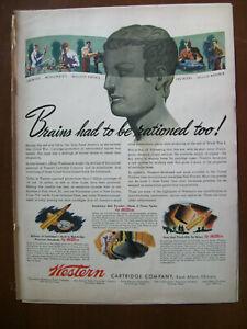 VTG-1943-Orig-Magazine-Western-Cartridge-Co-Bullets-Brains-Had-Rationed-Too