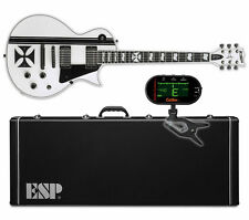 ESP LTD James Hetfield Iron Cross SW Snow White NEW w ESP HARD CASE + TUNER