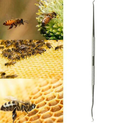 Beekeeping Dual Heads Stainless Needle Bee Hive Queen Grafting Bee Rearing O2V7