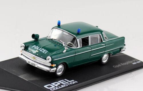 Altaya Modellauto Opel Kapitän P2 Polizei 1959-1964 1:43 IXO