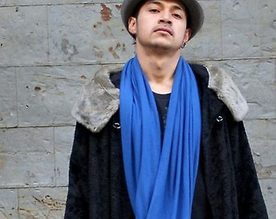 1.8m M L 1m W Royal Blu Tinta Unita Viscosa Da Uomo Donna Caldo Sciarpa Carattere Aromatico E Gusto Gradevole