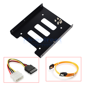 "2.5/"" to 3.5/"" Bay SSD Hard Drive HDD Mounting Bracket Caddy with Sata Power Cable"