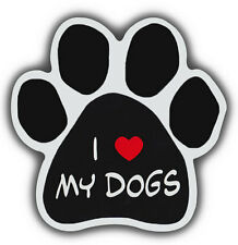 Dog Paw Shaped Magnets: I LOVE MY DOGS | Cars, Trucks, Refrigerators
