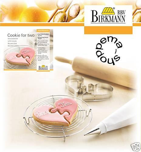 Emporte-Pièce Emporte-pièce keksausstecher Cookie for two cœur Fer Blanc Birkmann