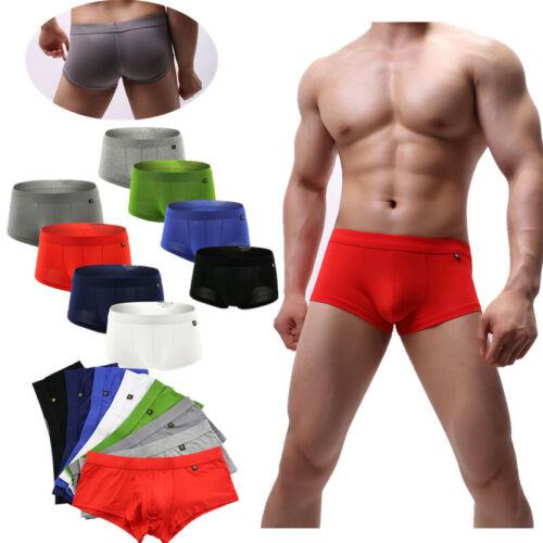 Hommes Boxer à Dos nu String Culotte Bas Taille Modal Sous-vêtements Slip d/'athlète Conditionnement Multiple de 4//8