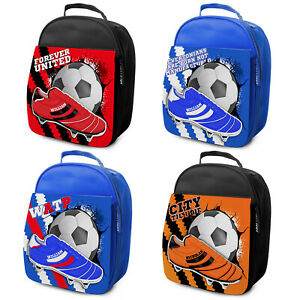 Football-Lunch-Bag-Kids-Lunch-Box-School-Snacks-Insulated-Personalised-ALL-TEAMS