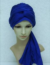 Turban hat, fashion turban with ties, bad hair day head wear, full head covering